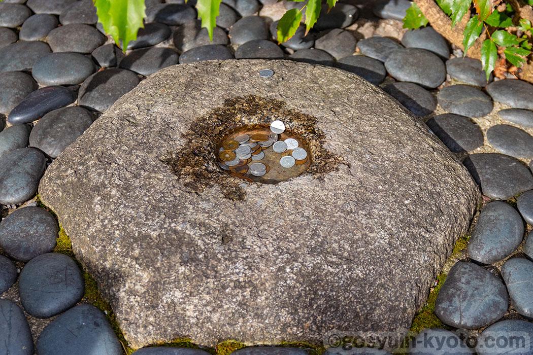 六角堂のへそ石