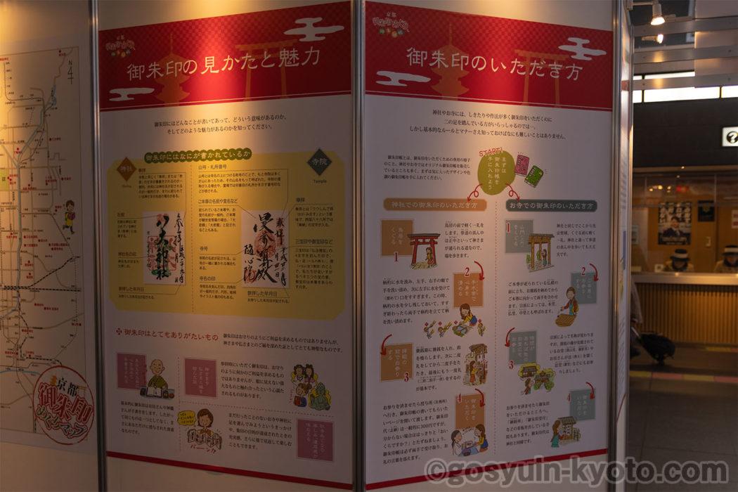 京都駅の御朱印・御朱印帳パネル展