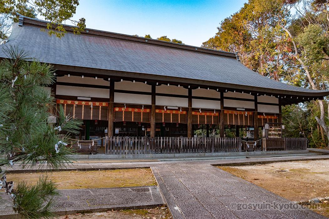 宗忠神社の拝殿
