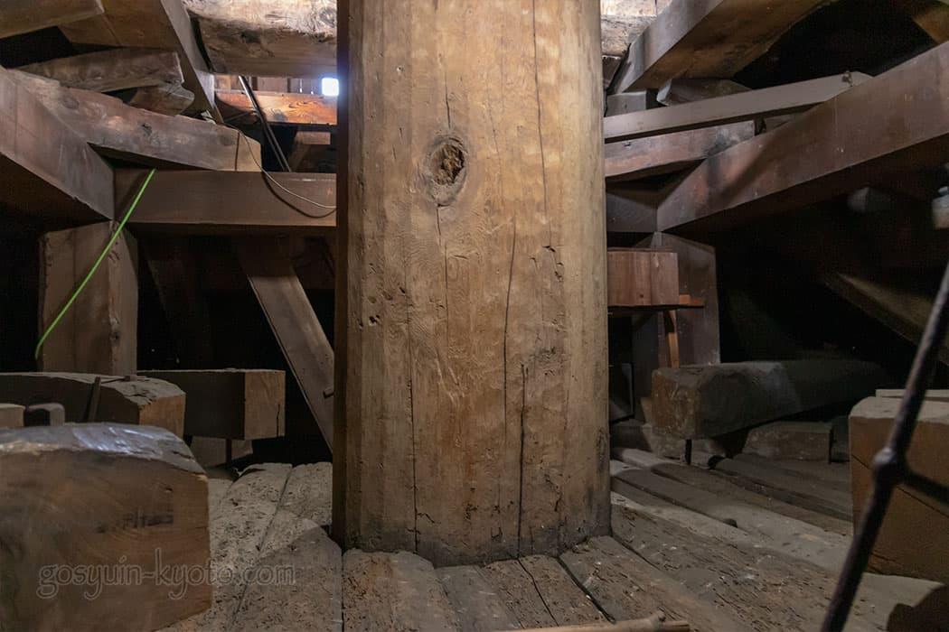 京都市東山区の八坂の塔(法観寺)の内部