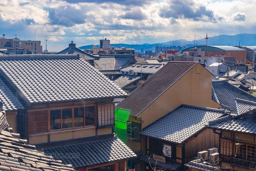 京都市東山区の八坂の塔(法観寺)からの眺め