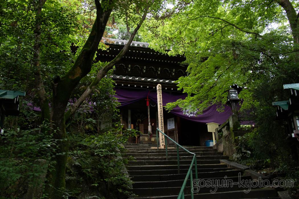 京都市東山区の長楽寺の本堂