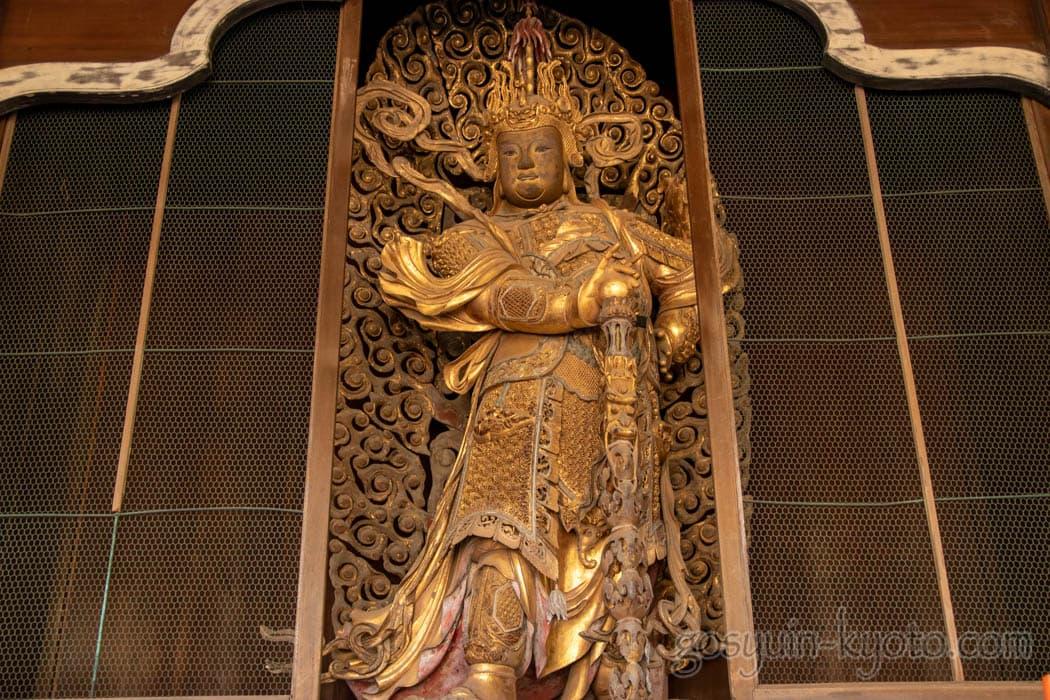 京都府宇治市の萬福寺の韋駄天