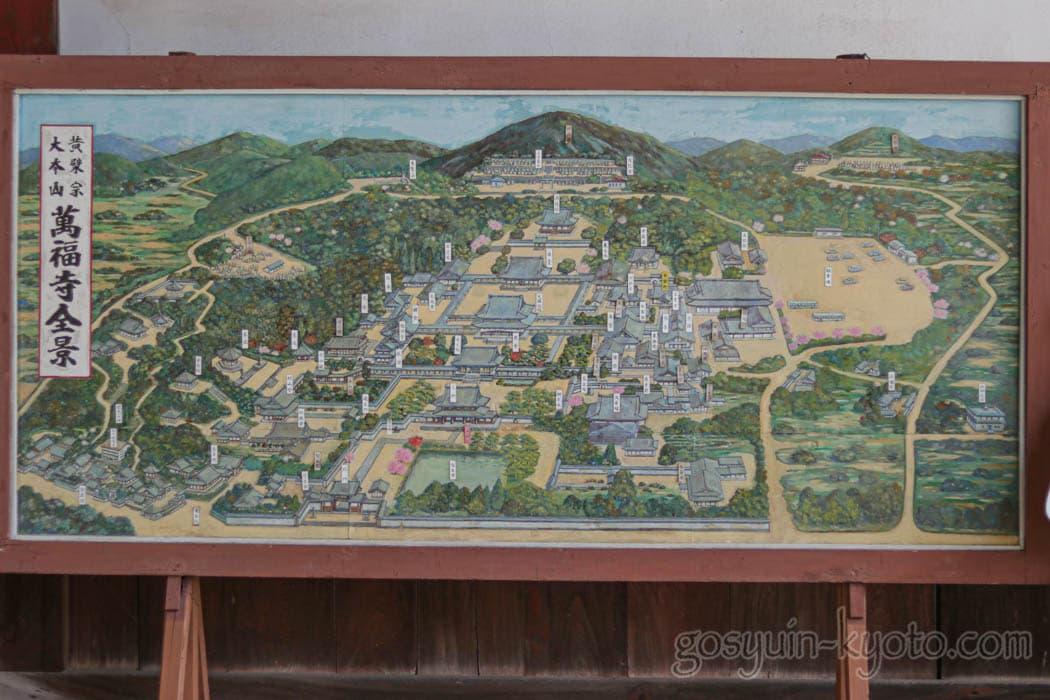 京都府宇治市の萬福寺の地図