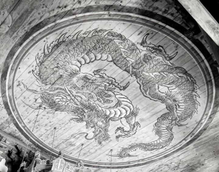 相国寺の法堂の蟠龍図