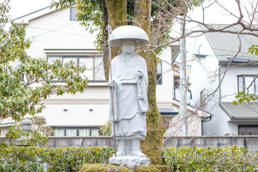 京都市北区の神光院の空海像