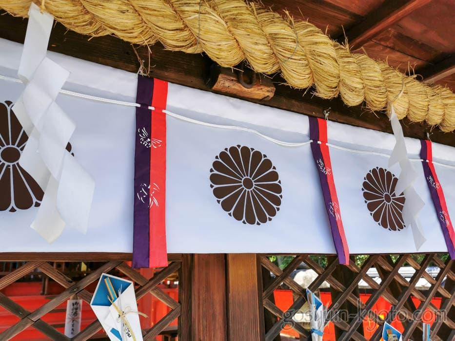 福王子神社の菊紋