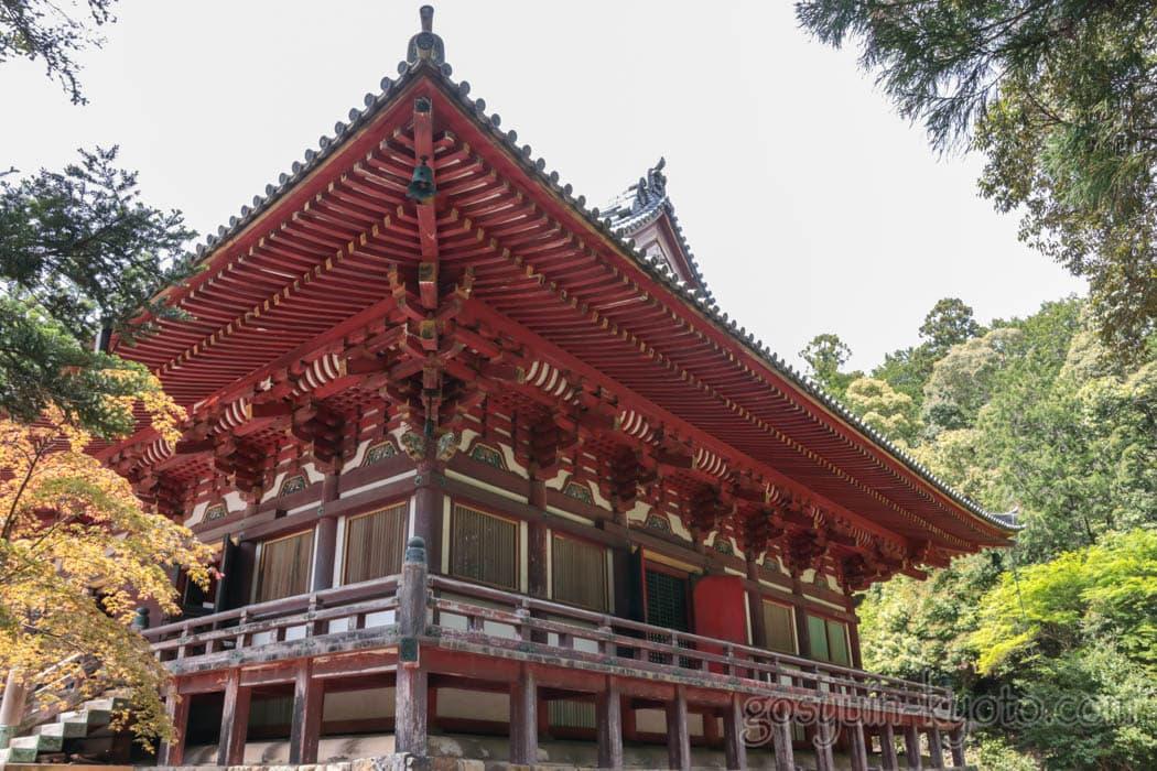 京都市右京区の神護寺の金堂