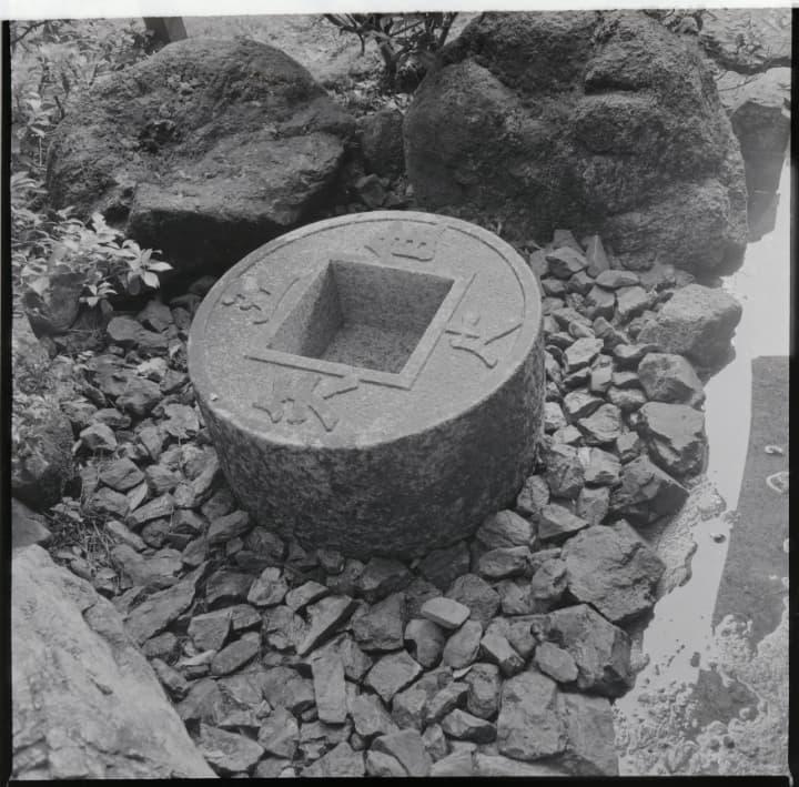 京都市右京区の龍安寺のつくばい