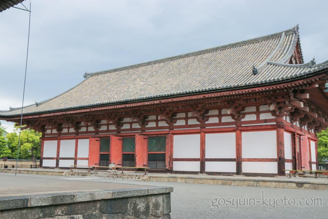 京都市南区の東寺の講堂