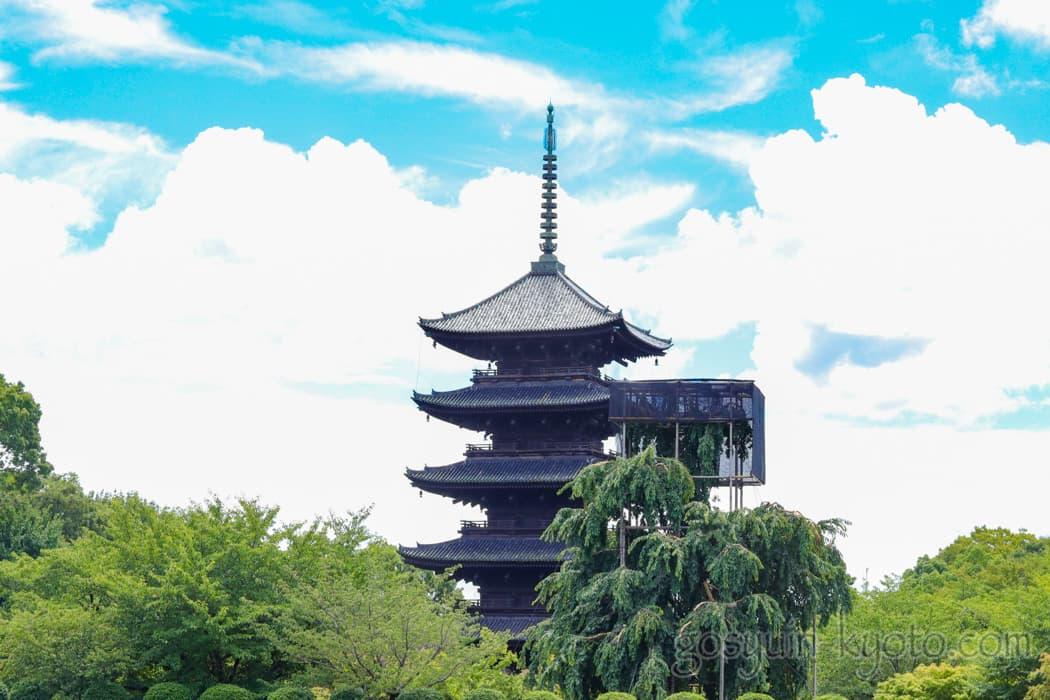 京都市の東寺の五重塔