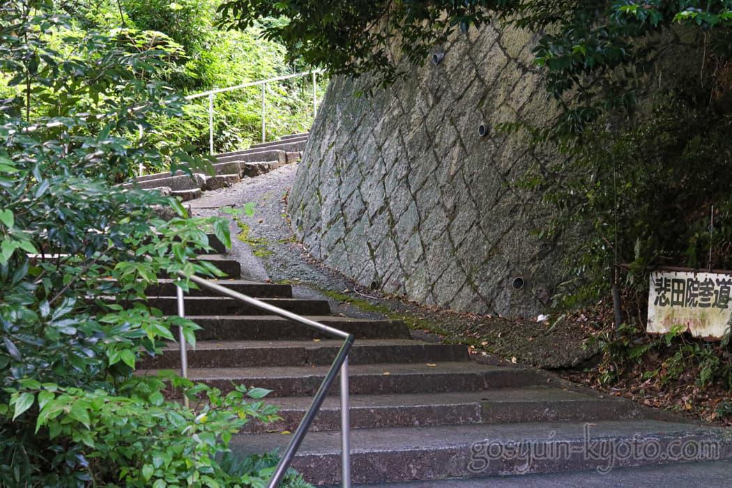 京都市東山区の悲田院の階段