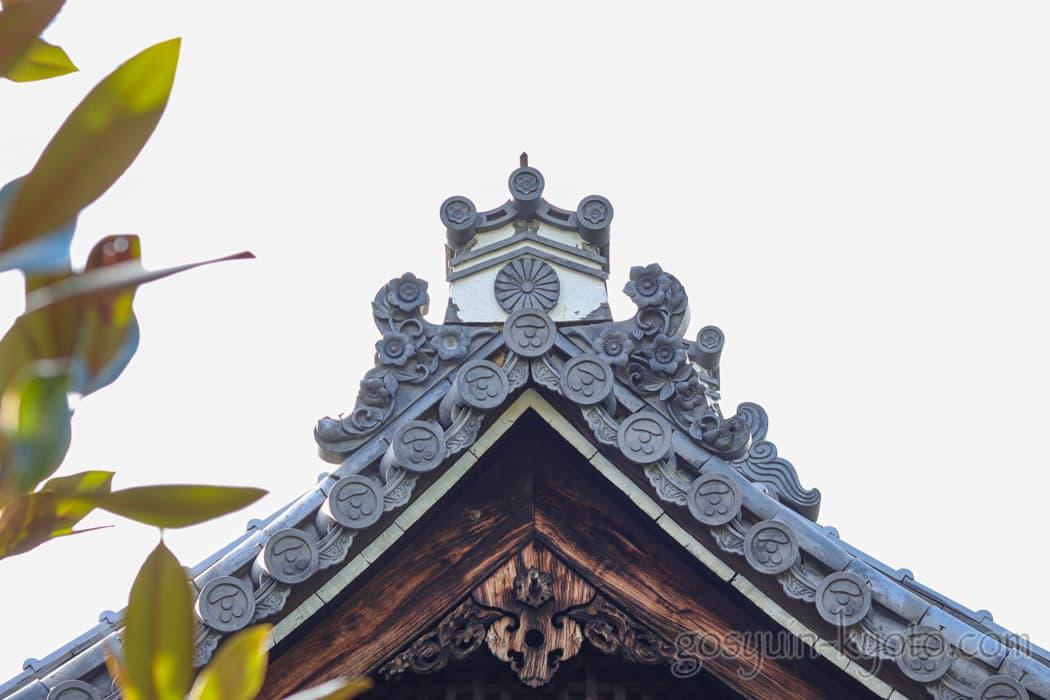 京都市東山区の悲田院の瓦