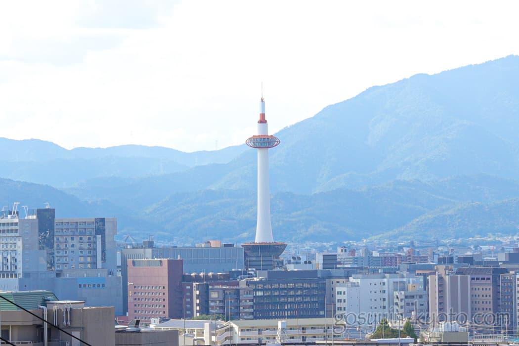 京都市東山区の悲田院からの景色