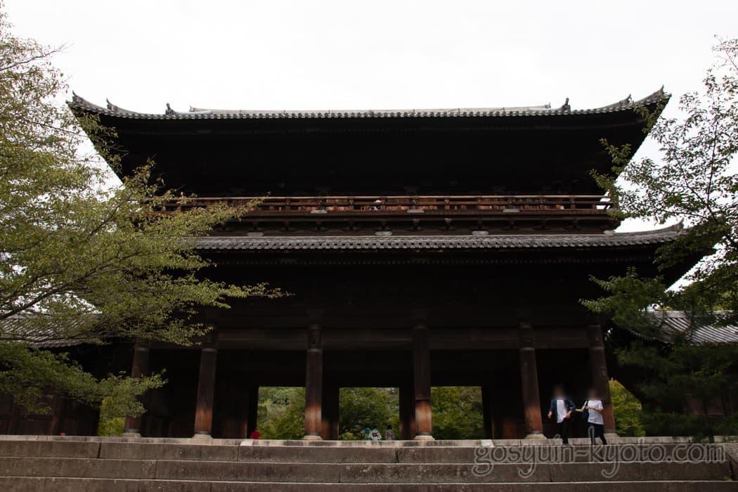 京都市左京区の南禅寺の三門