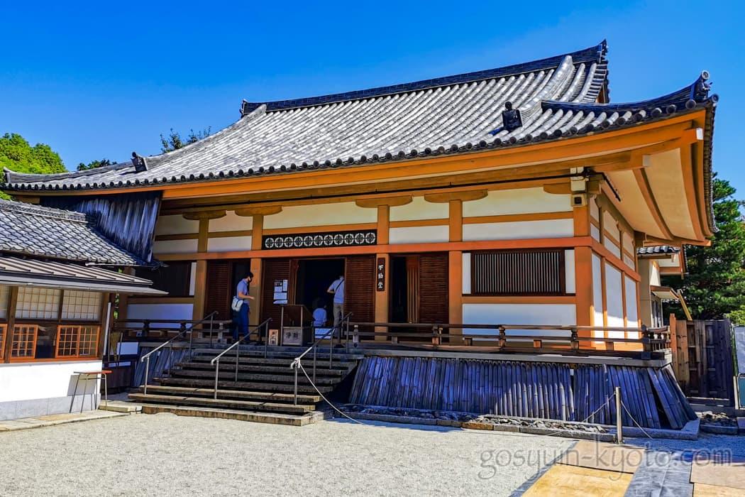 京都市左京区の聖護院門跡のお堂