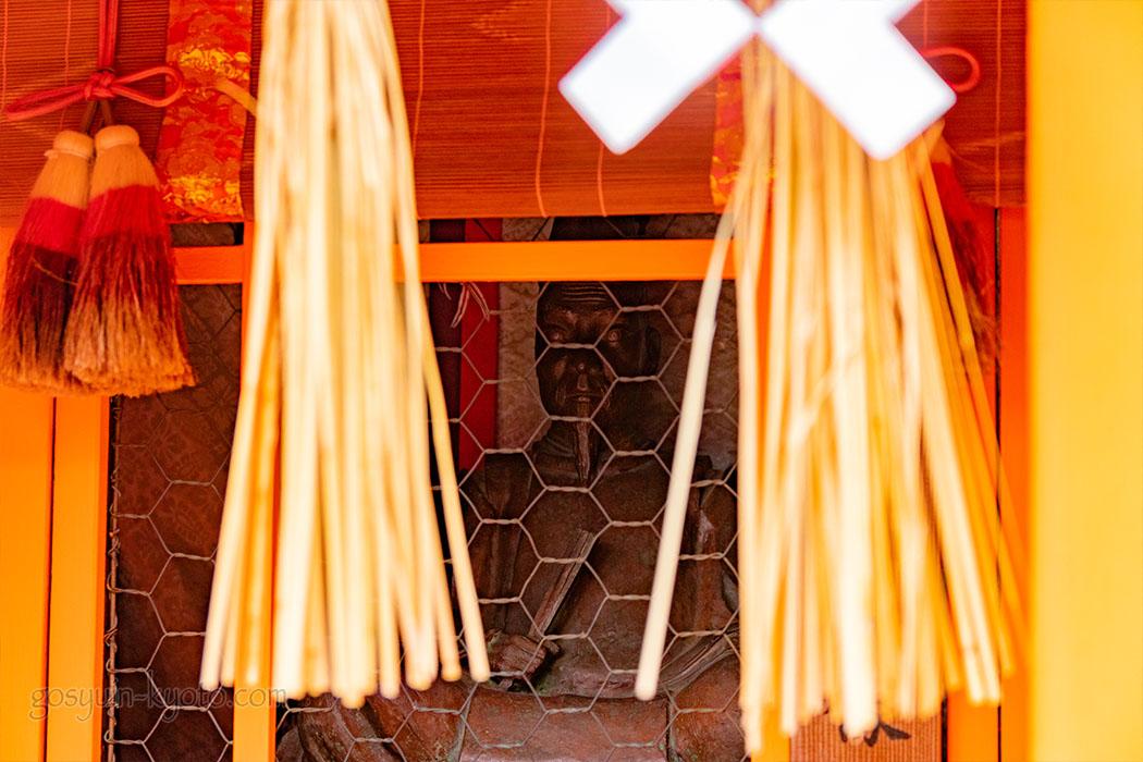 東丸神社の青葉殿の神像