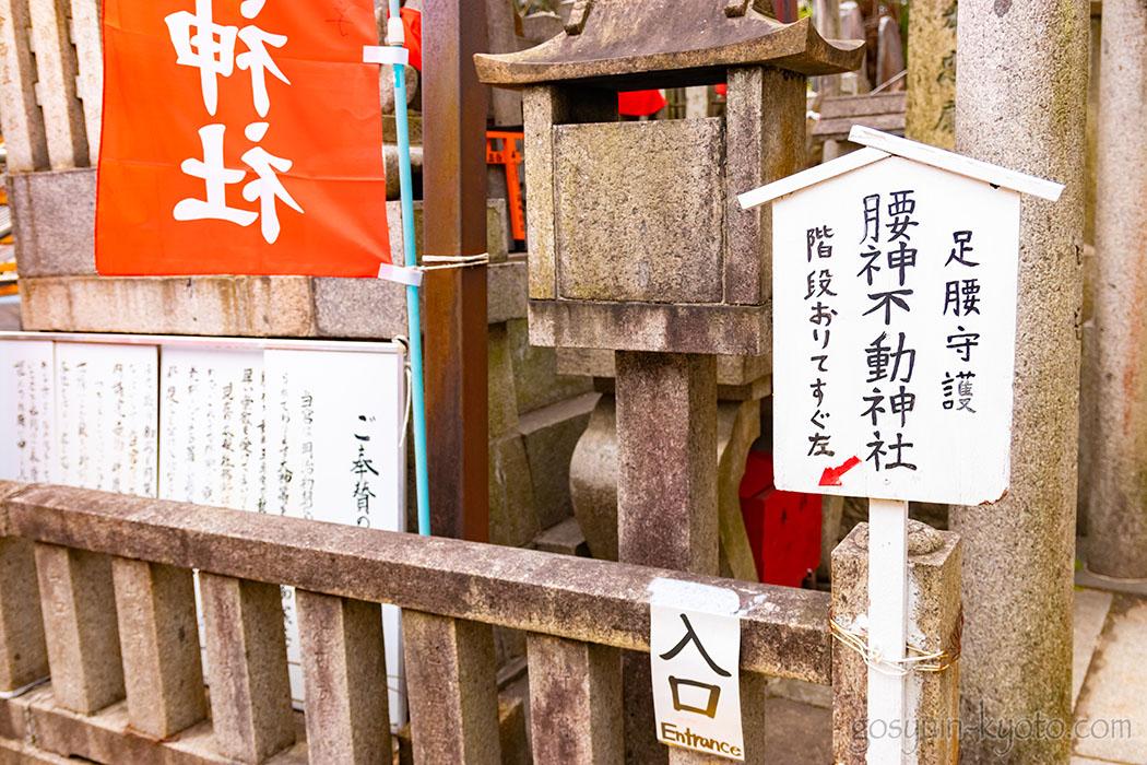 腰神不動神社の看板