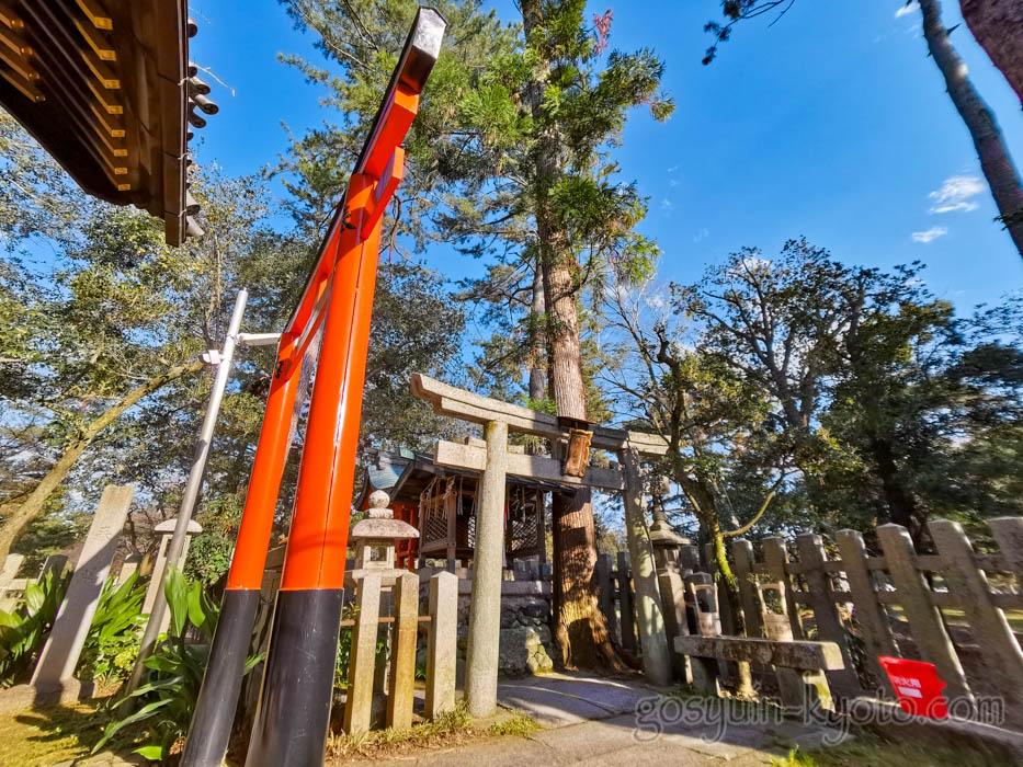 京都御苑内にある白雲神社の福寿稲荷神社